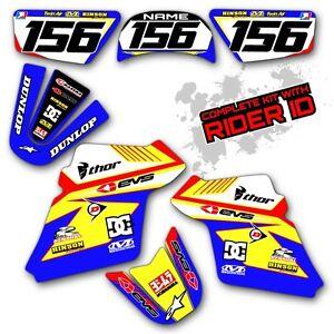 PW 80 1990 - 2017 MOTOCROSS GRAPHICS KIT YAMAHA PW80 DIRT BIKE RACE DECALS 16 17