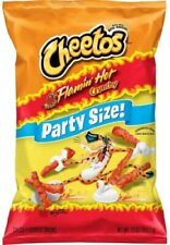NEW CHEETOS FLAMIN' HOT CRUNCHY CHIPS PARTY SIZE 15 OZ (425.2g) BAG CHEESE SNACK