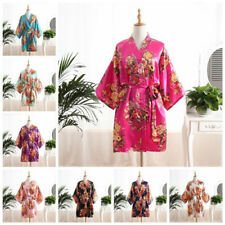 2017 Floral SATIN BRIDEMAID robes gowns BRIDE bath robe wedding kimono ROBES