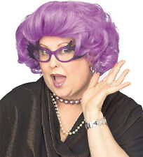 Drag Queen Dame Edna Wig Adult Purple Womens Costume Accessory Novelty