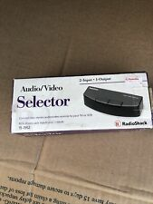 Radio Shack 2 Way Audio Video Selector Switch 15-1952 New In Box