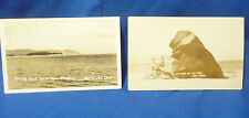 Postcard Old Man of the Sea Rock South Spout and Cape Mears Bar View Oregon