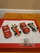 4 Carrera Go Disney Cars, Silver Francesco, 3 other Ligntning McQueen Slot Cars