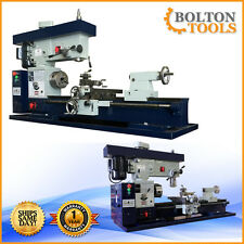 """NEW 12"""" x 36"""" Inch Metal Lathe Mill Drill Milling Machine Combo Metric AT400-M"""