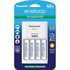 Panasonic Eneloop 4-Position Charger  4 Eneloop AA Batteries K-KJ17MCA4BA