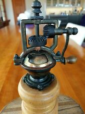 Vintage Style Pepper Mill Grinder, Brass And Wood Great Condition