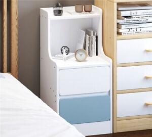 2 Drawer Wooden Bedroom Bedside Cabinet Furniture Storage Nightstand Side Table