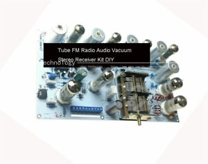 Tube FM Radio Audio Vacuum Stereo Receiver Kit DIY Board Digital frequency meter