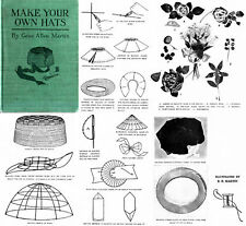 Millinery Book Hat Making How to Make Flapper Hats 1921