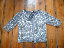 BNWT KATE MOSS SILVER SEQUIN CARDIGAN/JACKET 12 TOPSHOP
