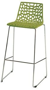 """Italian Fixed Height Bar Stool, Spider Web Design, Many Colors, Seat Height 29"""""""