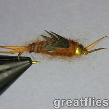 1 dozen (12) - Kaufmann's Stonefly Nymph - Brown - Bead Head