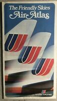 UNITED AIRLINES The Friendly Skies Air Atlas. (1969) foldout color air route map