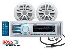 RADIO STEREO BOAT SEA-PROOF BOSS MARINE MR1306 KIT COFFERS RECEIVER PACKAGE