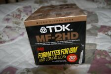 TDK MF-2HD 1.44MB 3 1/2 in Floppy Disk 3 Pack NEW