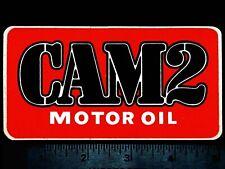 CAM2 Motor Oil - Original Vintage 1970's  Racing Decal/Sticker