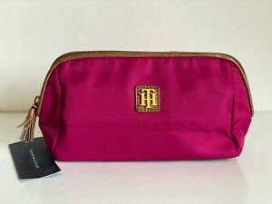 NEW! TOMMY HILFIGER DOME TRAVEL MAKEUP POUCH COSMETICS ORGANIZER CASE $48 SALE