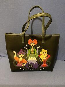 Loungefly Disney Hocus Pocus Sanderson Sisters Binx Tote Hand Bag Purse Satchel