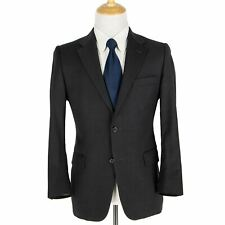 RECENT Hickey Freeman Lindsey Charcoal Wool Twill Dual Vents 2Btn Jacket 40S