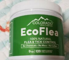 Colorado Dog Company EcoFlea Natural Flea/Tick Control 120 Soft Chews Exp 01/22
