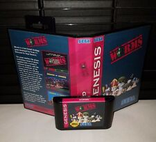 Worms - turn based strategy Video Game for Sega Genesis! Cart & Box