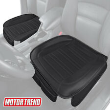 Motor Trend Universal Car Front Seat Cushion, Black Faux Leather (2-Pack)
