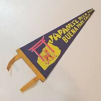 Vintage Japanese Deer Park Buena Park, Calif. Pennant Flag Banner RARE