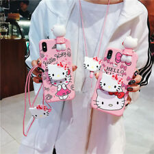 Cute Bow Hello kitty Doll strap Holder case Cover for iPhone 11 Pro XS Max 7 8+