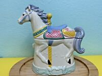 Carousel Horse Cookie Jar Hearth & Home Large Beautiful Stunning Merry Go Round