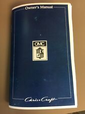 Chris Craft Boat Owners Manual Concept 1995 OMC Sportboat Cuddy Bowrider COPY 95