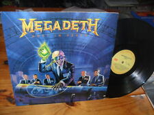 MEGADETH RUST IN PEACE LP ARGENTINA 1988 VG+/EX HEAVY METALLICA SLAYER