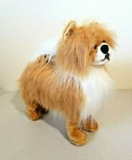 "Melissa & Doug POMERANIAN Puppy Dog Realistic Poseable Stuffed Plush 14"""