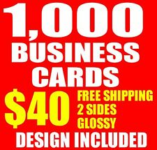 1000 CUSTOM DOUBLE SIDED BUSINESS CARDS | FREE SHIPPING! | DESIGN INCLUDED