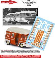 DÉCALS 1/18 réf 866 Renault Estafette Assistance 1968