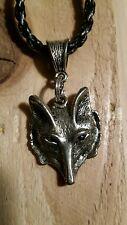 Fox head pendant necklace