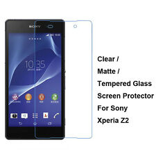 Tempered Glass / Clear / Matte Front Film Screen Protector For Sony Xperia Z2