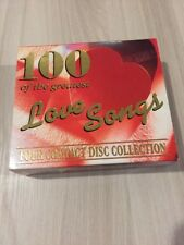 """100 of The Greatest, """"Love Songs"""", Set Di 4 CD"""
