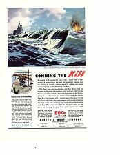 1945 EBCO submarine Electric Boat Co welder WWII ad  natl geographic