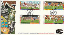 (43821) GB Guernsey FDC European Football Tribute - 25 April 1996