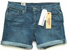 NEW LEVI'S Women's Size 33 or 16 Vintage Soft Med Wash Roll Cuff Classic Short