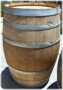 Authentic Used Oak Wine Barrel - Pickup Only, California Central Coast