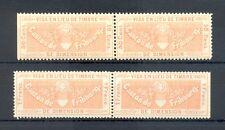 SWITZERLAND REVENUES-4 x-VISA EN LIEU DE TIMBRE-FRIBOURG-( 50 Ct +1 Fr ) **--@1