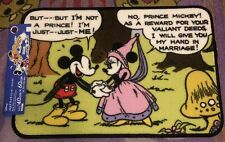 DISNEY PRINCE MICKEY MOUSE PRINCESS MINNIE MOUSE FLOOR MAT NEW!