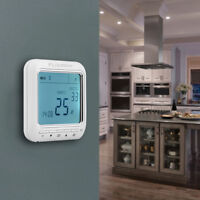 DIGITAL 7 DAY PROGRAMMABLE ROOM THERMOSTAT ELECTRONIC HEATING STAT 16A 3M CABLE
