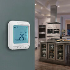 LCD Wireless Programmable Thermostat Electronic RF Heating Control 16A ±1℃ White