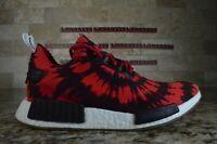 Adidas x Nice Kicks Men's NMD_R1 Primeknit Red Black White Size 9.5 AQ4791