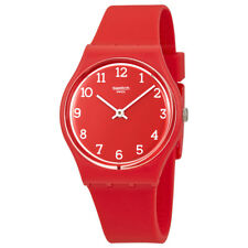 Swatch Sunetty Red Dial Mens Plastic Watch GR175