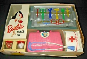 Vintage Barbie RARE Nurses Kit 1962 Pressman Toy #3395 In original box CB