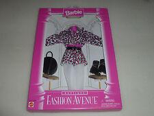 NEW BARBIE BOUTIQUE FASHION AVENUE SET 14980 MATTEL 1996 PINK LEOPARD OUTFIT NIB