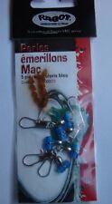 Ragot perles T emerillonnees coloris bleu montage peche